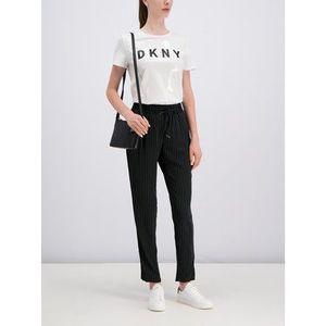 DKNY Bavlnené nohavice P9BKEAQY Čierna Regular Fit vyobraziť