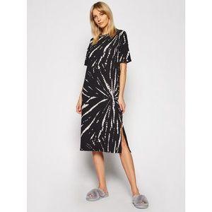 DKNY Nočná košeľa YI2122472 Čierna Regular Fit vyobraziť