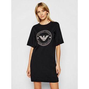 Emporio Armani Underwear Nočná košeľa 164456 1P255 00020 Čierna vyobraziť