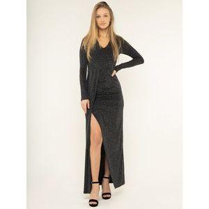 Guess Večerné šaty W0RK57 WD7G0 Čierna Regular Fit vyobraziť