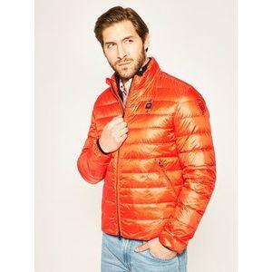 Blauer Vatovaná bunda Nylon 20SBLUC03031 005050 Oranžová Regular Fit vyobraziť