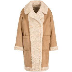 My Twin Zimný kabát 192MT2020 Béžová Regular Fit vyobraziť