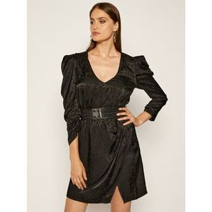 Guess Koktejlové šaty Maurizia W0YK0P WD3I0 Čierna Regular Fit vyobraziť