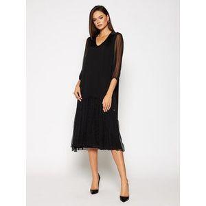 Nissa Večerné šaty RS11874 Čierna Regular Fit vyobraziť