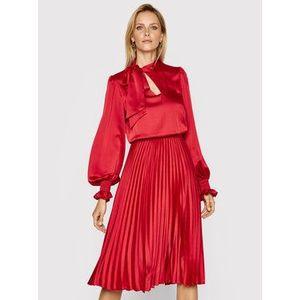 Nissa Večerné šaty RS11787 Červená Regular Fit vyobraziť