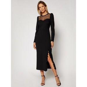 Red Valentino Večerné šaty UR0MJ05X5JD Čierna Regular Fit vyobraziť