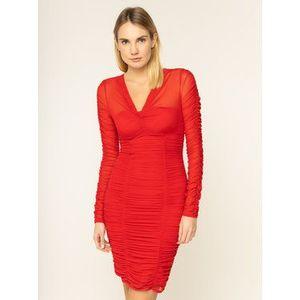 Guess Koktejlové šaty Adrianna W01K0R K2X51 Červená Slim Fit vyobraziť