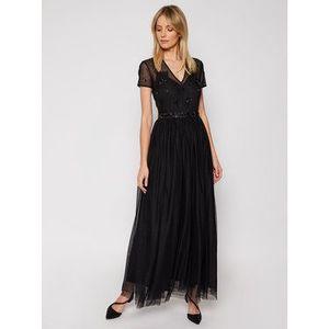 TWINSET Večerné šaty 202TP2352 Čierna Regular Fit vyobraziť