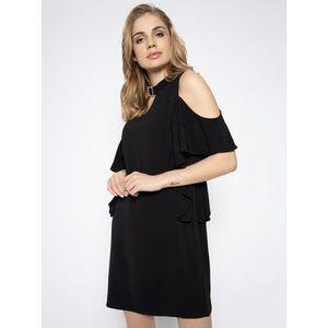 Guess Koktejlové šaty Philipa W0GK91 W9X50 Čierna Regular Fit vyobraziť