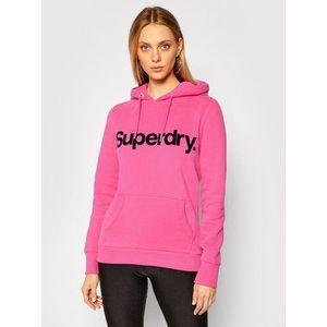Superdry Mikina Flock W2010381A Ružová Regular Fit vyobraziť
