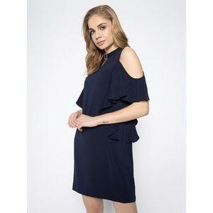 Guess Koktejlové šaty Philipa W0GK91 W9X50 Tmavomodrá Regular Fit vyobraziť