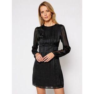 Guess Koktejlové šaty Delphina W1RK0O WDON2 Čierna Regular Fit vyobraziť