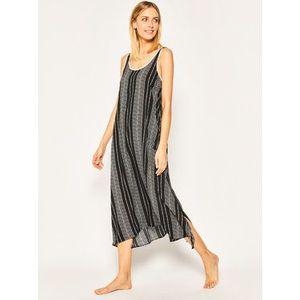 DKNY Nočná košeľa YI2622404 Čierna Relaxed Fit vyobraziť
