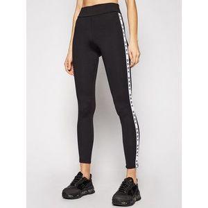 DKNY Pyžamové nohavice YI3822471 Čierna Slim Fit vyobraziť