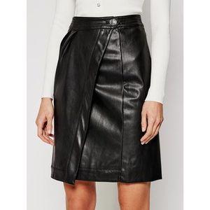 Morgan Kožená sukňa 211-JITA Čierna Regular Fit vyobraziť
