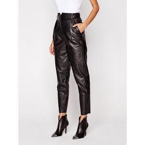 LaMarque Kožené nohavice 6320 Čierna Regular Fit vyobraziť