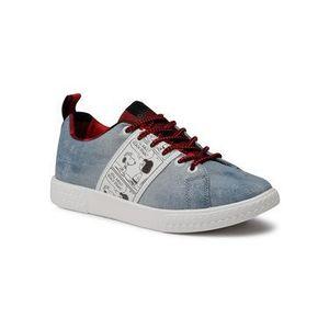 Desigual Sneakersy Comet Snoopy 20WSKD04 Modrá vyobraziť