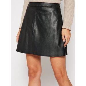 LaMarque Kožená sukňa 6303 Čierna Regular Fit vyobraziť