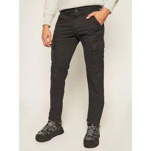 Napapijri Bavlnené nohavice Moto Wint 1 NP0A4EO1 Čierna Regular Fit vyobraziť