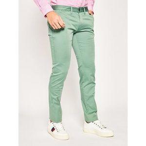 Emporio Armani Bavlnené nohavice 3H1P20 1NEDZ 0561 Zelená Slim Fit vyobraziť