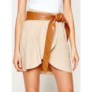 TwinSet Mini sukňa 201TT2212 Béžová Loose Fit vyobraziť