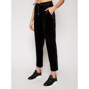 DKNY Bavlnené nohavice P0JKWCOT Čierna Regular Fit vyobraziť