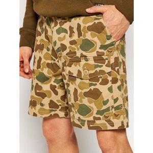 Quiksilver Bavlnené šortky Scout Hunter 20 Inch EQMWS03115 Hnedá Staight Fit vyobraziť