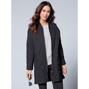 Kabát na zips čierna M vyobraziť