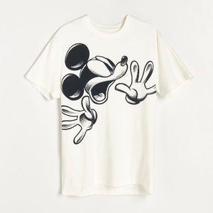 Reserved - Tričko Mickey Mouse - Krémová vyobraziť
