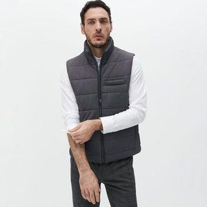 Reserved - Prešívaná vesta so stojačikom - Šedá vyobraziť