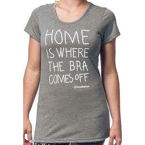 Tričko Horsefeathers Home heather gray Velikost: S, Objem: dámske vyobraziť