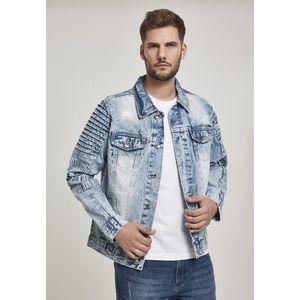 Pánska riflová bunda SOUTHPOLE Biker Trucker Jacket Farba: lt.sand blue, Veľkosť: L vyobraziť