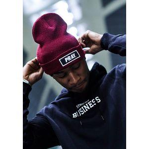 Zimná čiapka MR.TEE Pray Beanie Farba: maroon, Veľkosť: one size vyobraziť