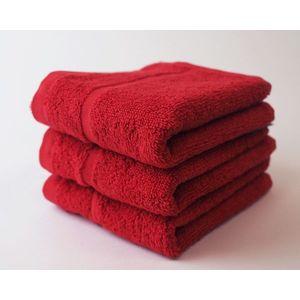 Dobrý Textil Malý uterák Economy 30x50 - Červená vyobraziť