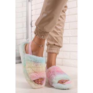 Viacfarebné plyšové sandále Dory vyobraziť