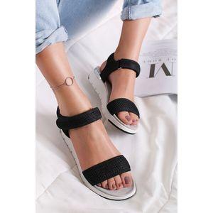 Čierne platformové sandále Meghan vyobraziť