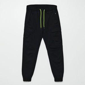 Cropp - Nohavice jogger - Čierna vyobraziť