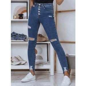 Modré džínsové nohavice. vyobraziť