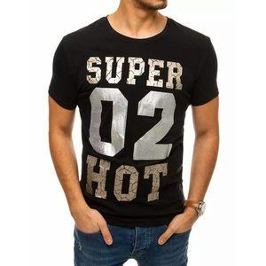Trendové čierne tričko s nápisom vyobraziť