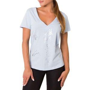 Svetlo modré dámske tričko s mašĺou vyobraziť