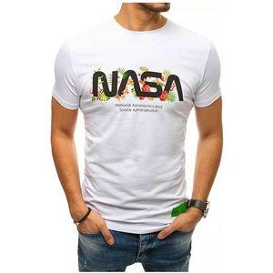 Biele pánske tričko nasa vyobraziť