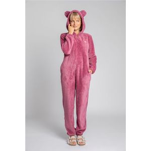 Ružový plyšový pyžamový overal LA006 vyobraziť