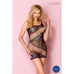 Čierne sieťované sexi šaty CA001 vyobraziť