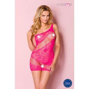 Ružové sieťované sexi šaty CA001 vyobraziť