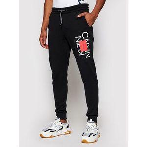 Calvin Klein Teplákové nohavice Text Reversed K10K107268 Čierna Slim Fit vyobraziť