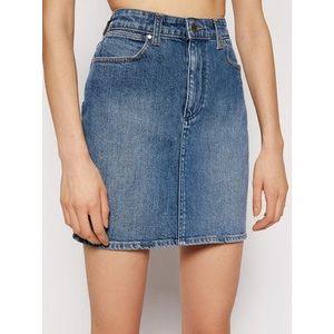 Wrangler Džínsová sukňa Mid W245JX28Z Modrá Regular Fit vyobraziť