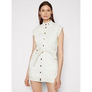 IXIAH Džínsové šaty IX22-25052 Biela Regular Fit vyobraziť