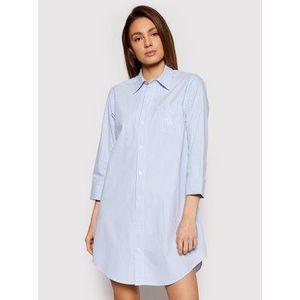 Lauren Ralph Lauren Nočná košeľa I815197 Modrá Regular Fit vyobraziť