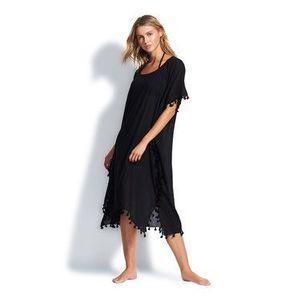 Seafolly Plážové šaty Amnesia 53638 Čierna Regular Fit vyobraziť