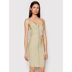 Marciano Guess Koktejlové šaty 1GG756 5608Z Zelená Slim Fit vyobraziť